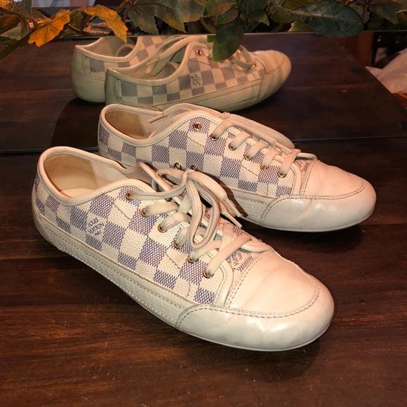 ebb8f18f16a4 Louis Vuitton Shoes - Louis Vuitton Damier Azur Capucine